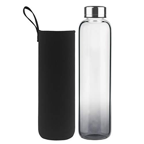 DEARRAY Sport Glas Trinkflasche 500ml / 1000ml / 1 Liter,...