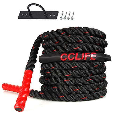 CCLIFE Battle Ropes Schlachtseil 9m 12m 15m Ø38mm Trainingsseil...